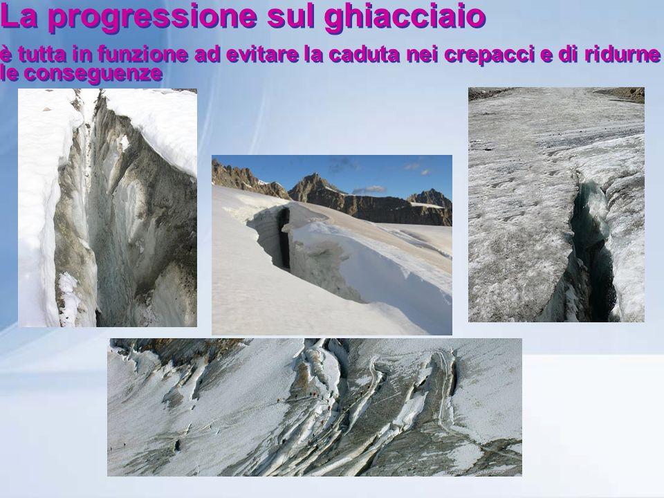 La progressione sul ghiacciaio