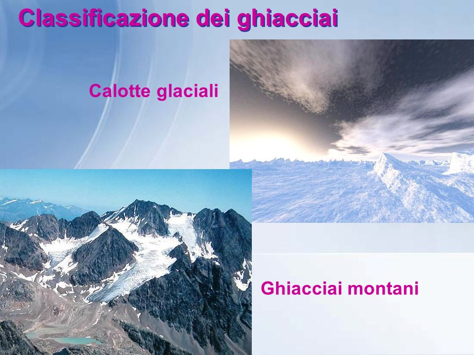 Classificazione dei ghiacciai