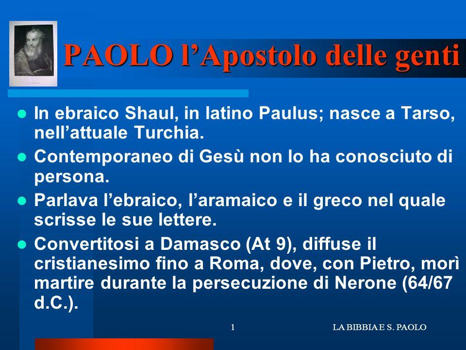 PAOLO l'Apostolo delle genti