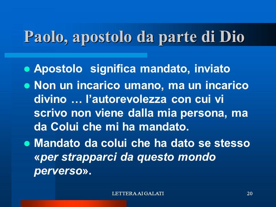 Paolo, apostolo da parte di Dio