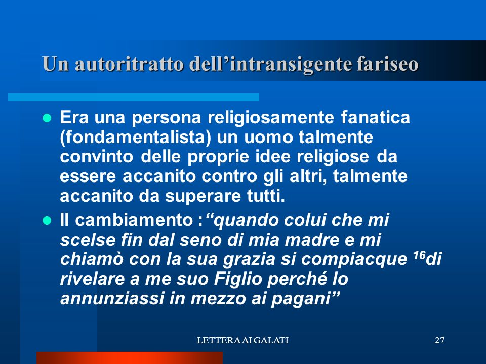 Un autoritratto dell'intransigente fariseo