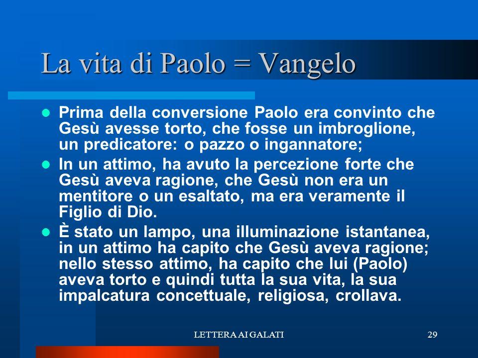 La vita di Paolo = Vangelo