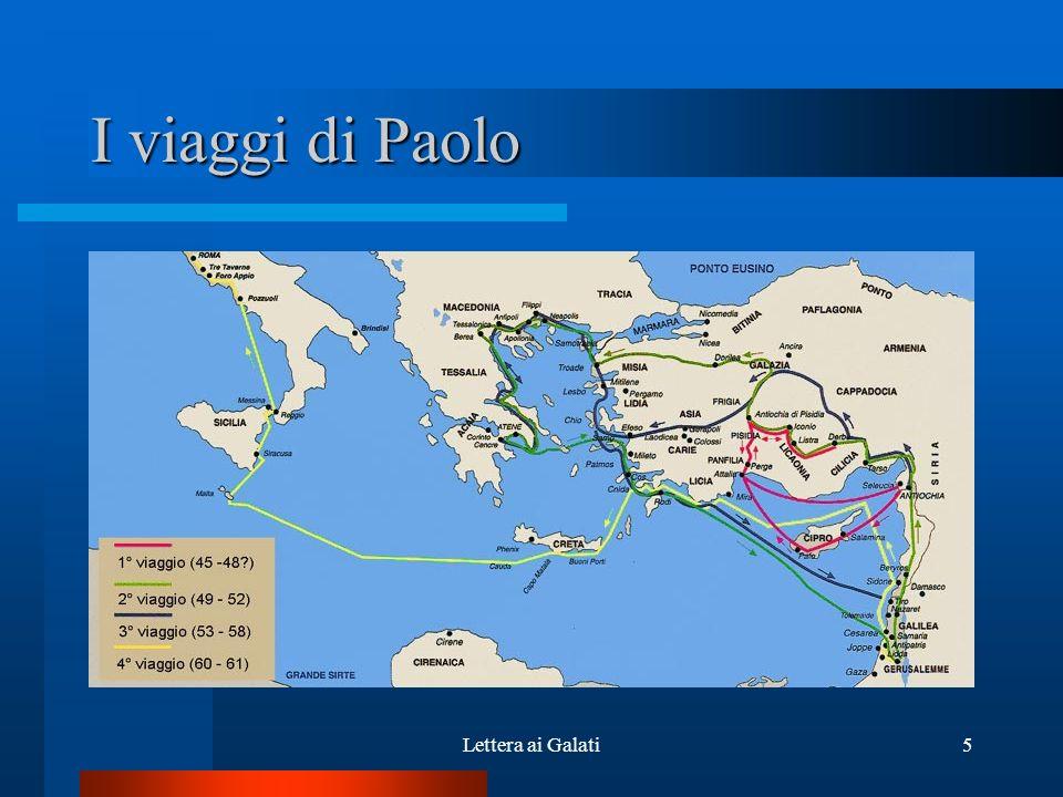 I viaggi di Paolo Lettera ai Galati