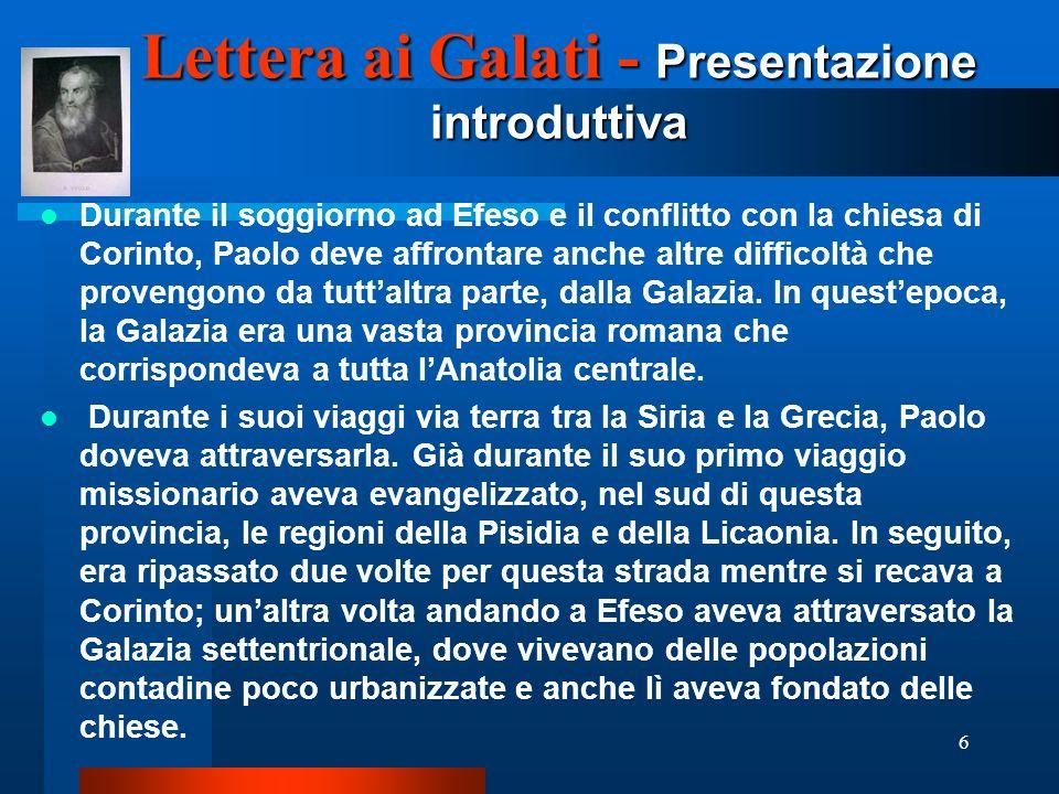 Lettera ai Galati - Presentazione introduttiva