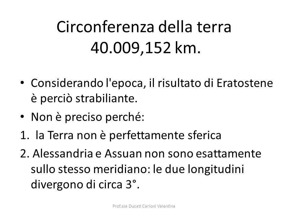 Circonferenza della terra 40.009,152 km.