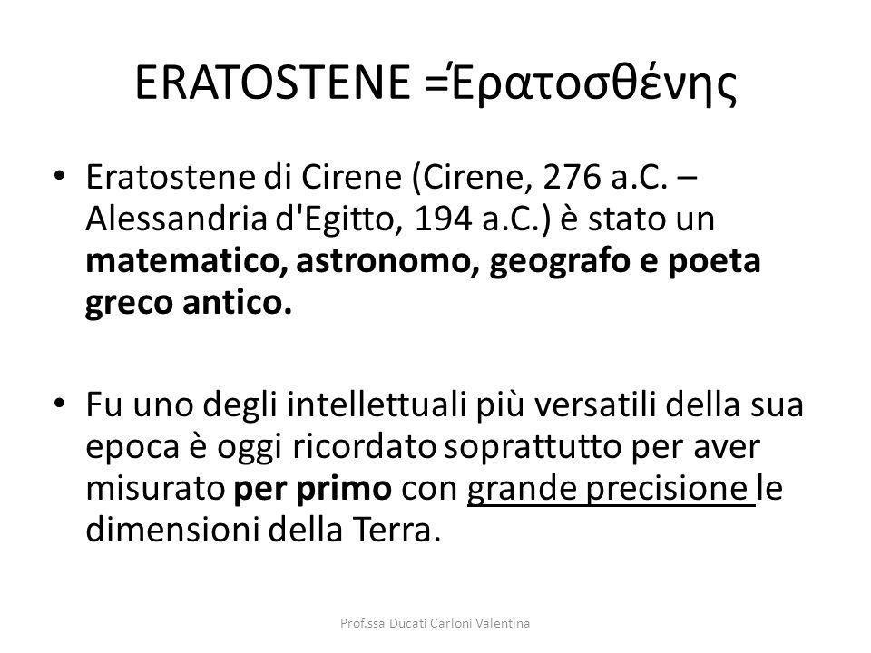 ERATOSTENE =Έρατοσθένης