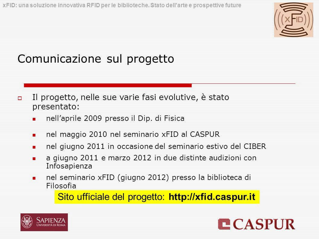 Comunicazione sul progetto