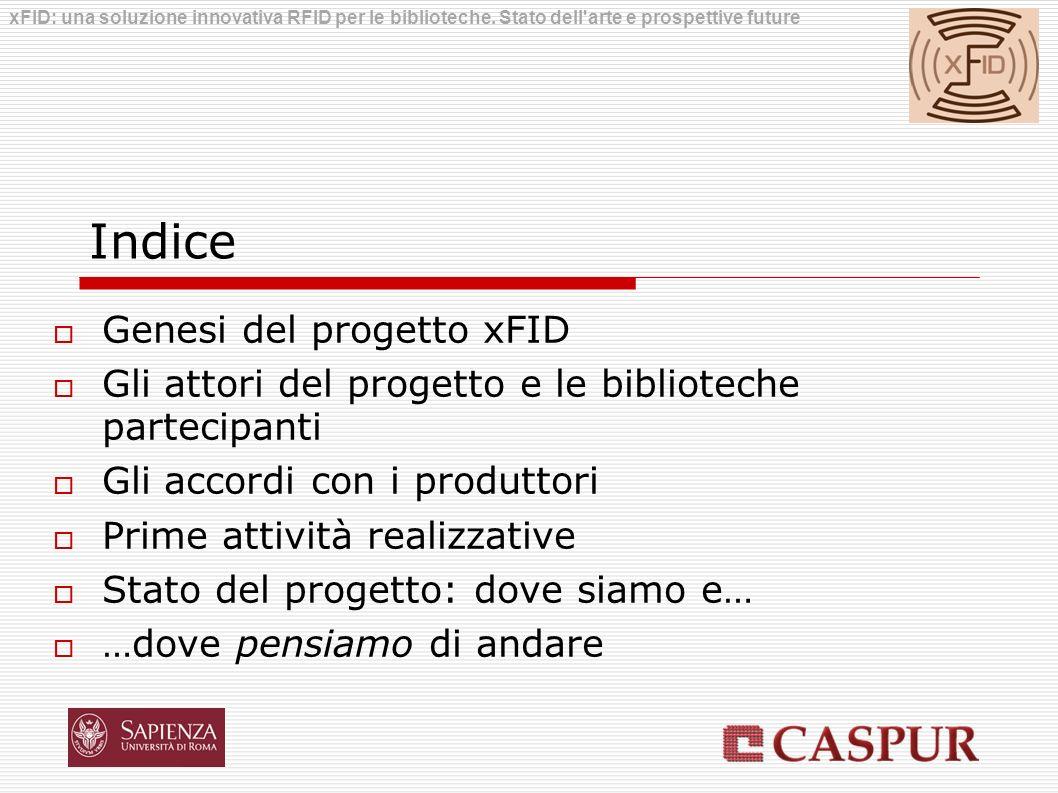 Indice Genesi del progetto xFID