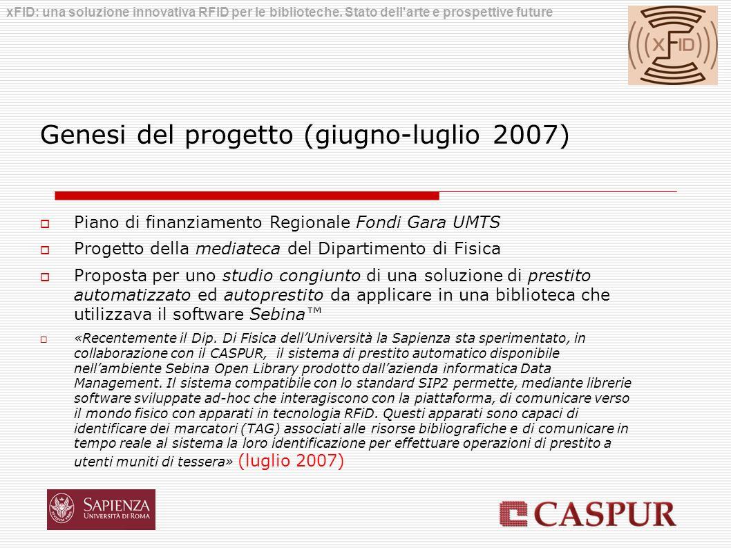 Genesi del progetto (giugno-luglio 2007)