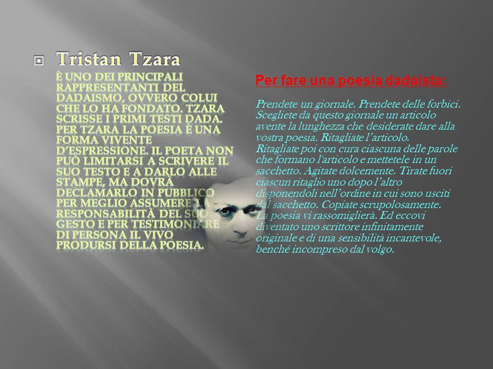 Tristan Tzara Per fare una poesia dadaista:
