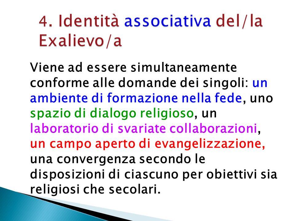 4. Identità associativa del/la Exalievo/a