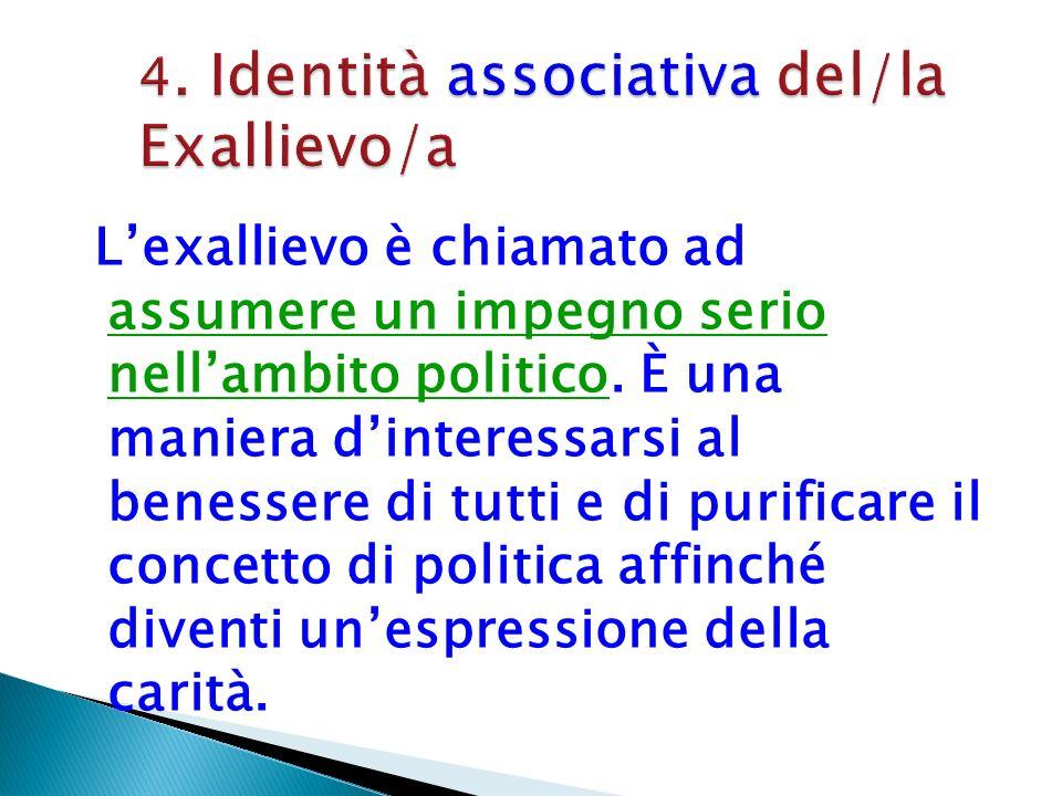 4. Identità associativa del/la Exallievo/a