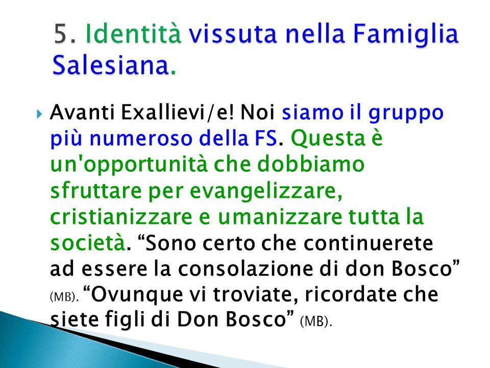 5. Identità vissuta nella Famiglia Salesiana.