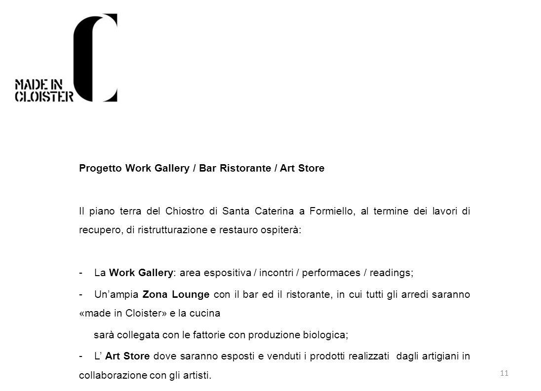 Progetto Work Gallery / Bar Ristorante / Art Store