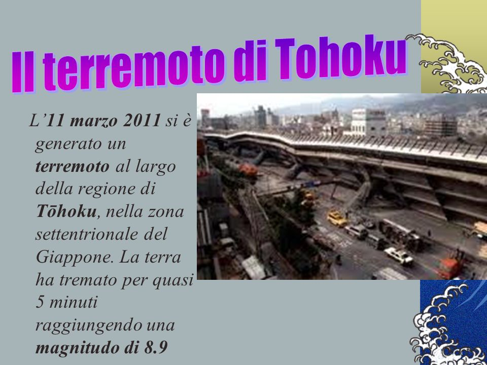 Il terremoto di Tohoku