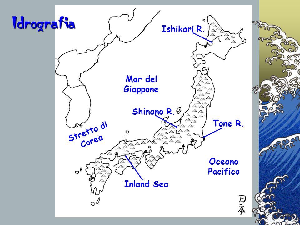 Idrografia Ishikari R. Mar del Giappone Shinano R. Tone R.