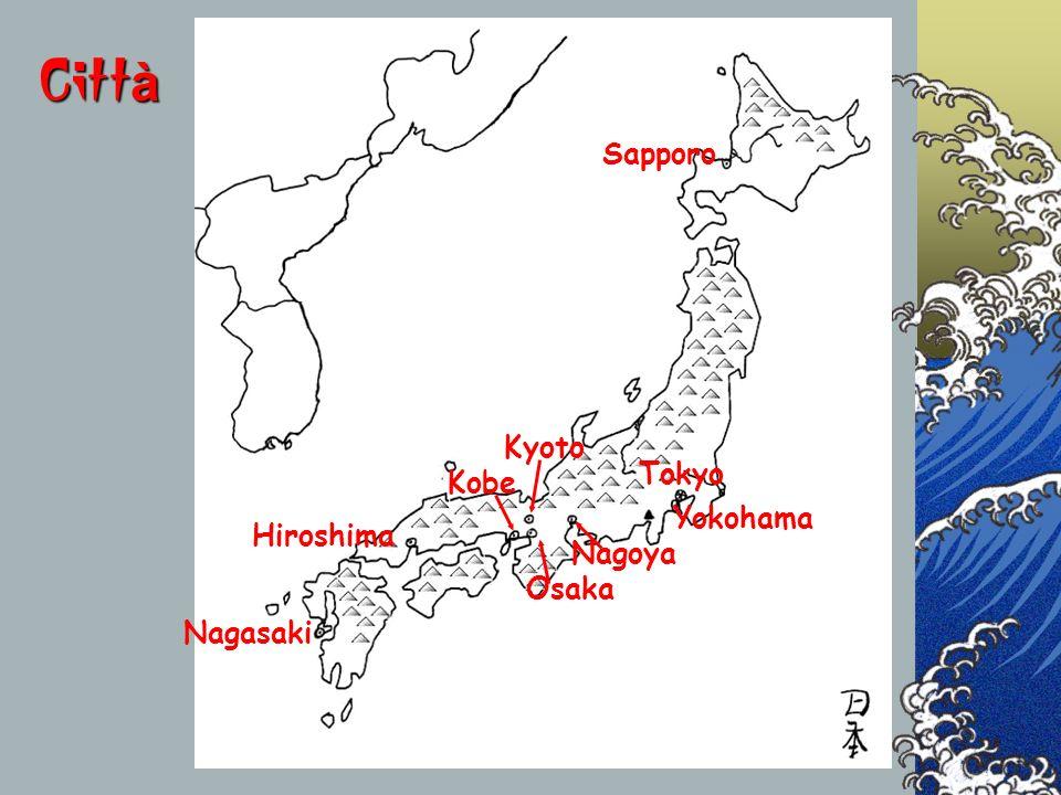 Città Sapporo Kyoto Tokyo Kobe Yokohama Hiroshima Nagoya Osaka