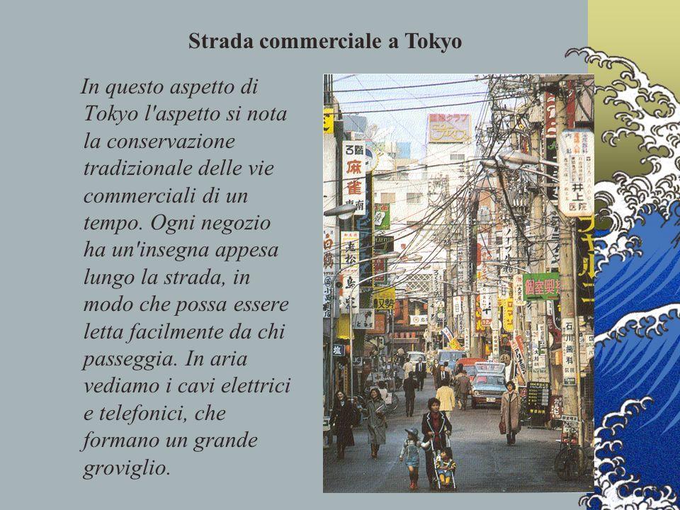 Strada commerciale a Tokyo