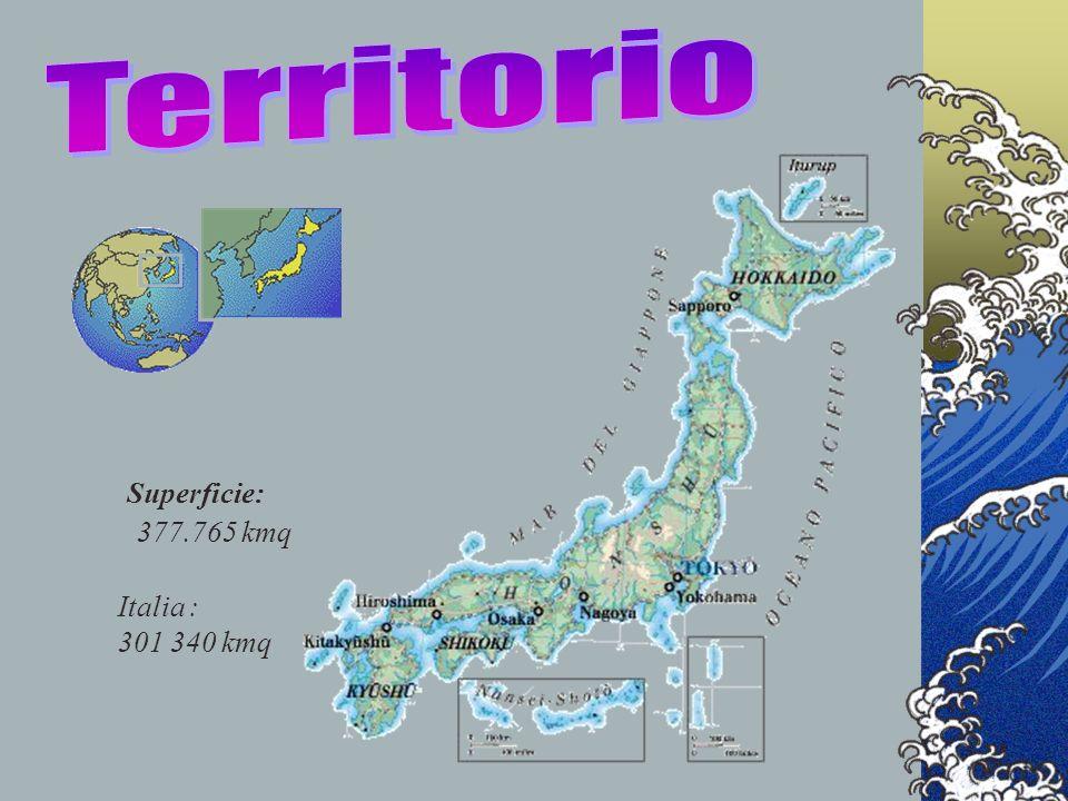 Territorio Superficie: 377.765 kmq Italia : 301 340 kmq