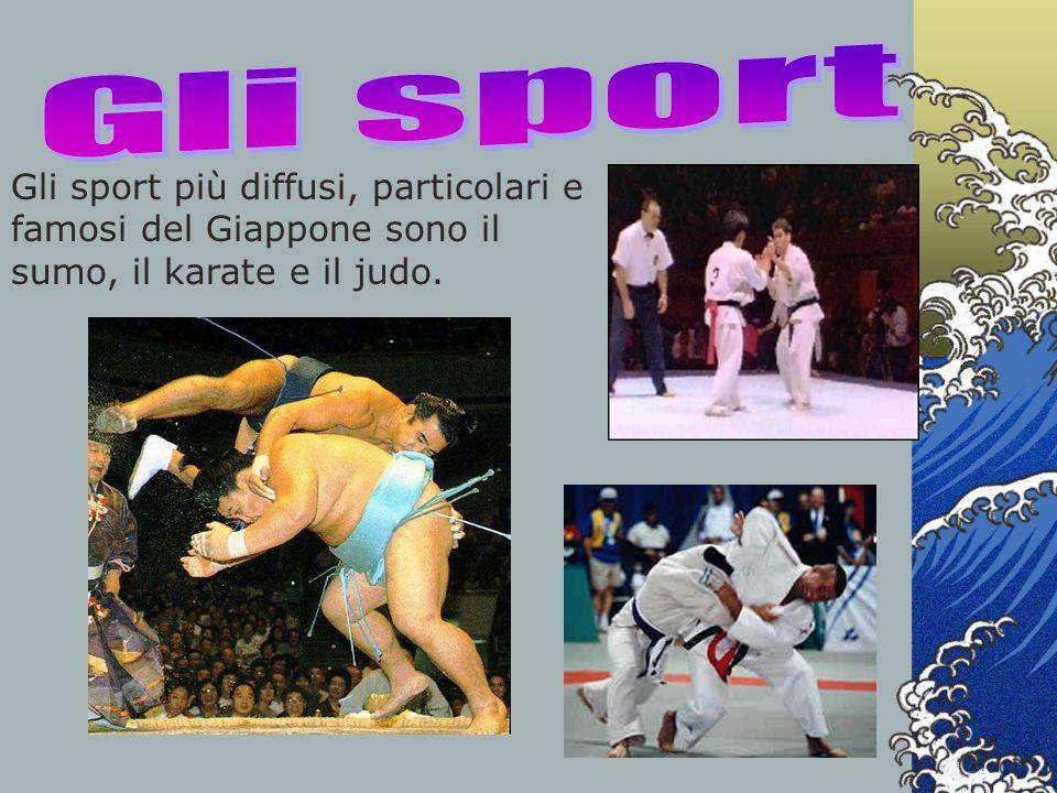 Gli sport Gli sport più diffusi, particolari e famosi del Giappone sono il sumo, il karate e il judo.