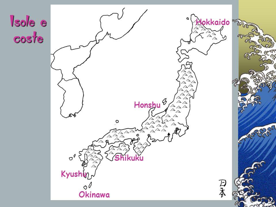 Isole e coste Hokkaido Honshu Shikuku Kyushu Okinawa