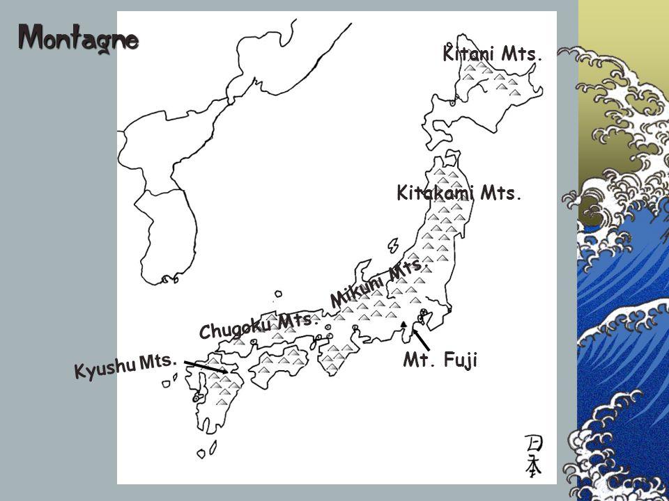 Montagne Kitani Mts. Kitakami Mts. Mikuni Mts. Chugoku Mts.