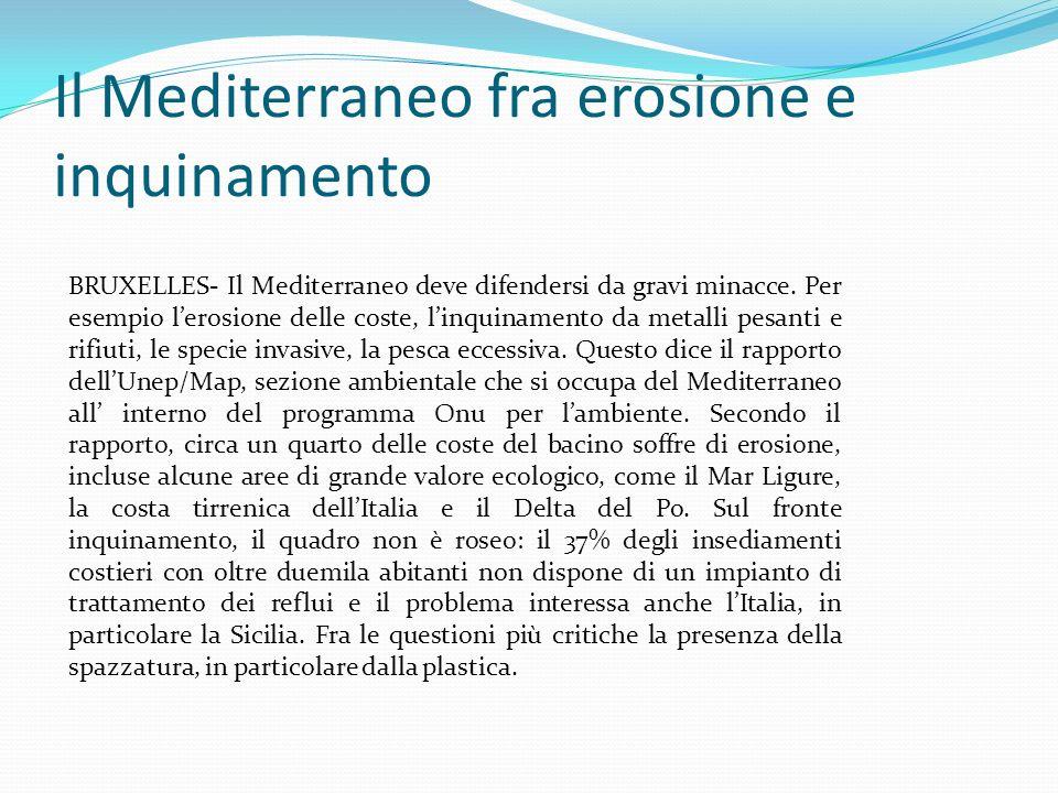 Il Mediterraneo fra erosione e inquinamento