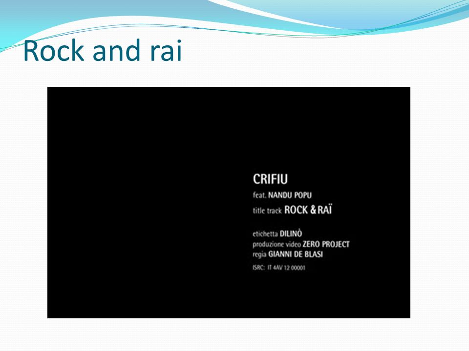Rock and rai