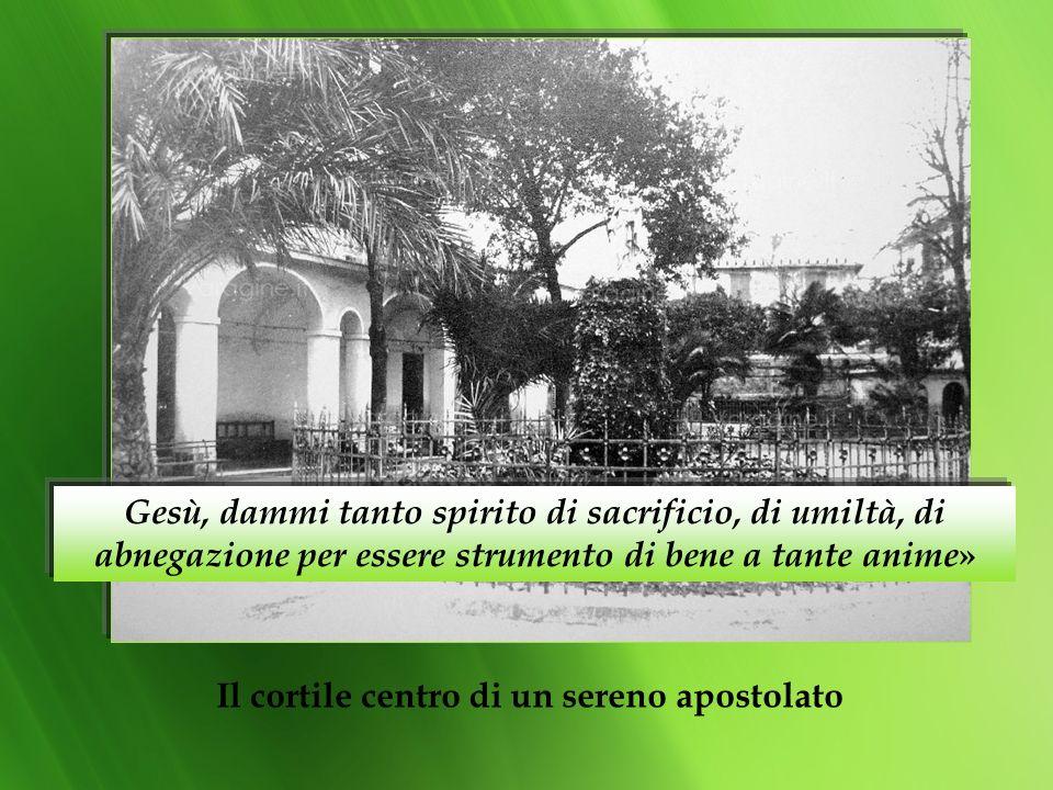 Il cortile centro di un sereno apostolato