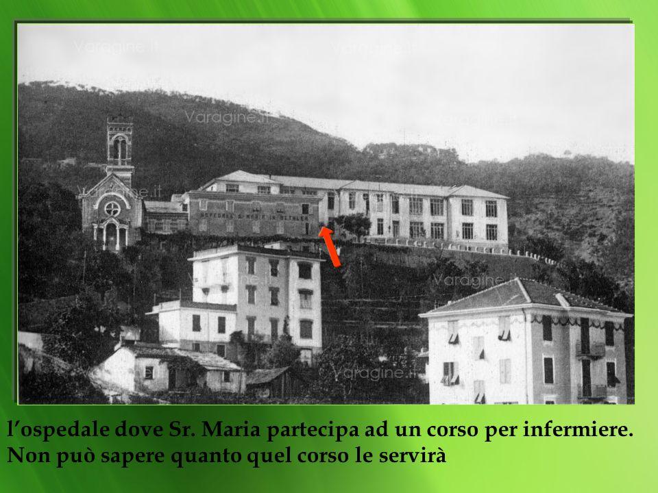 l'ospedale dove Sr. Maria partecipa ad un corso per infermiere
