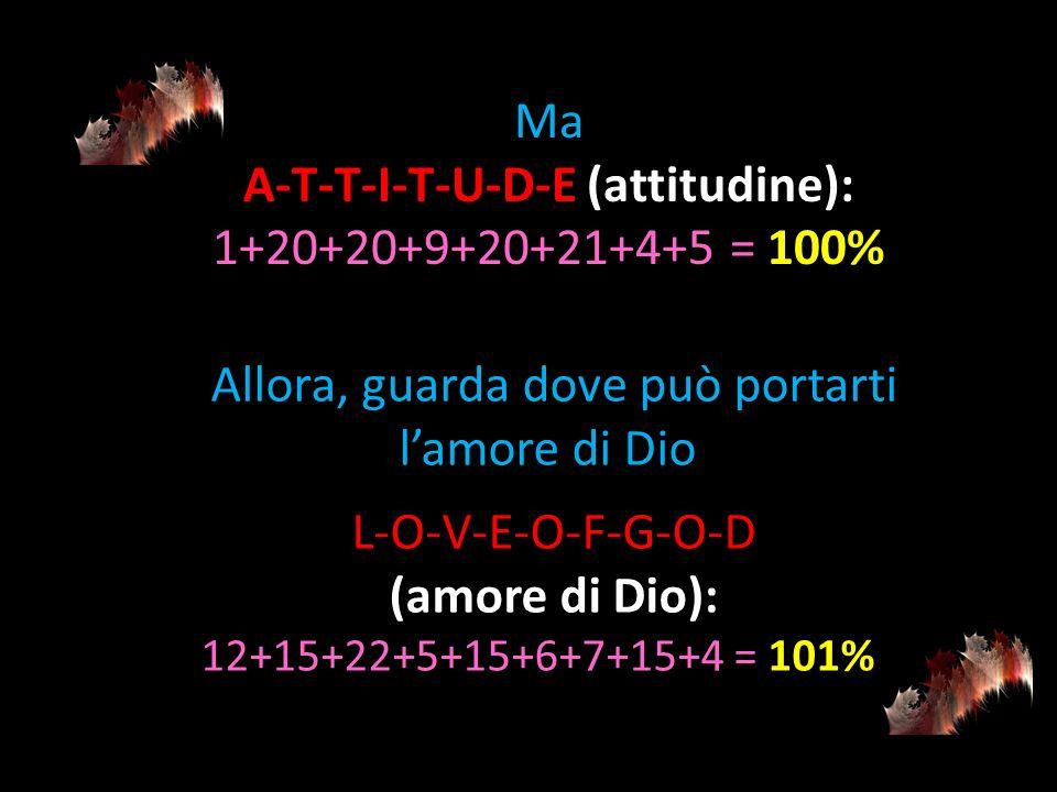 A-T-T-I-T-U-D-E (attitudine):