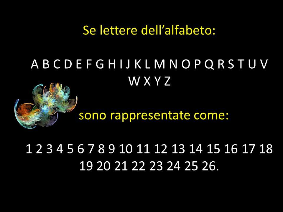Se lettere dell'alfabeto: