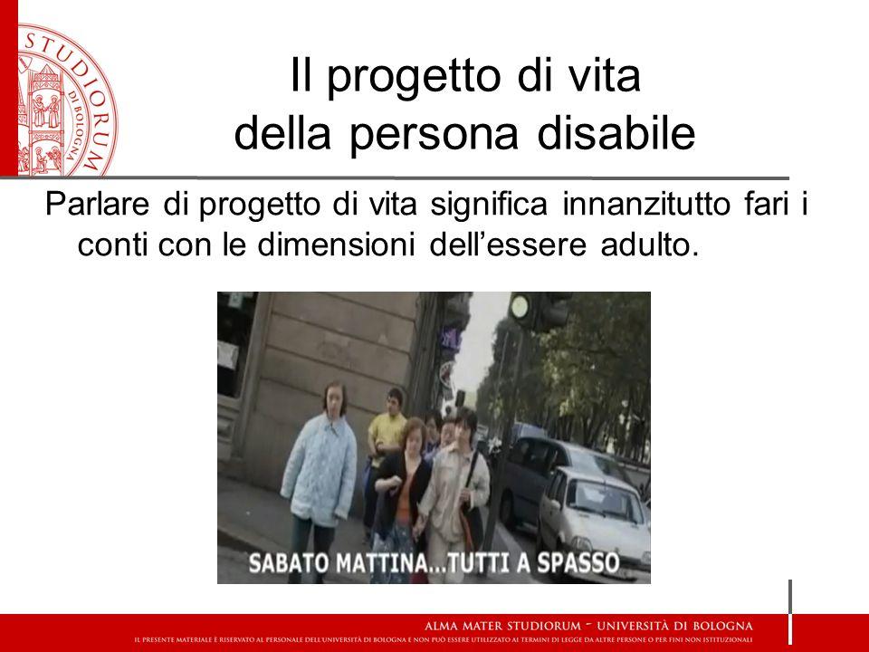 Il progetto di vita della persona disabile
