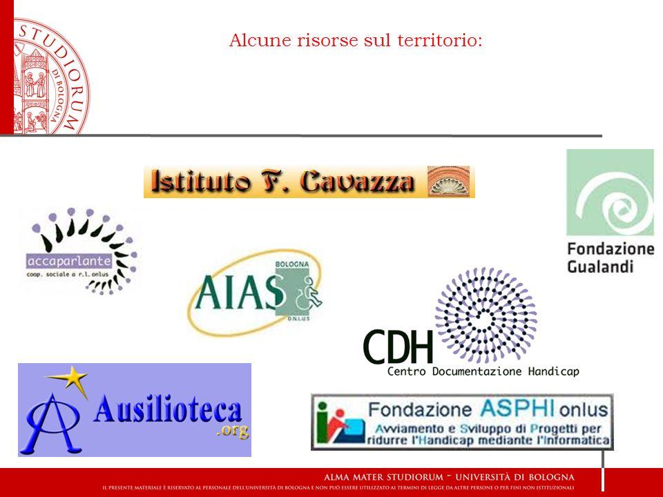 Alcune risorse sul territorio: