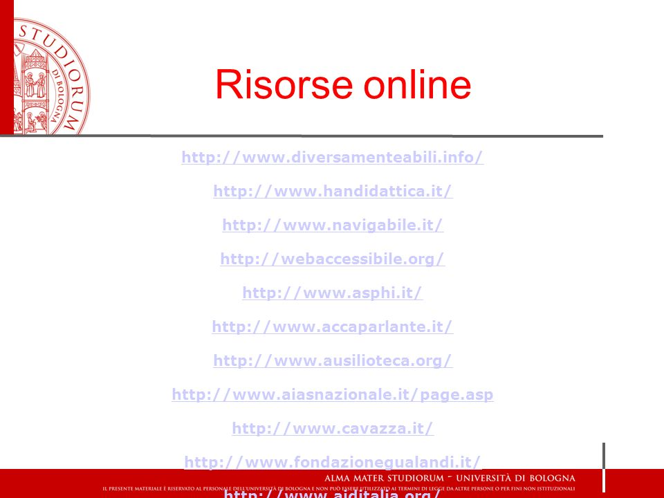 Risorse online http://www.diversamenteabili.info/