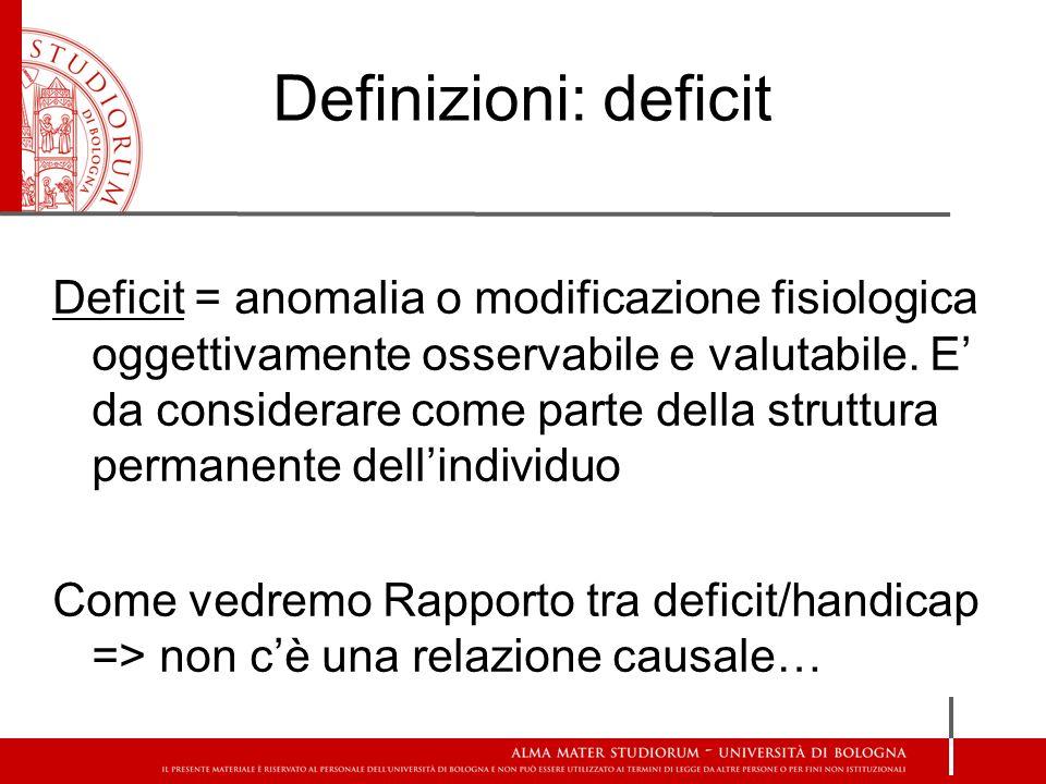 Definizioni: deficit