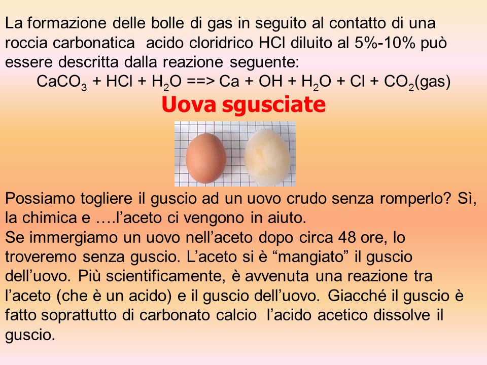 CaCO3 + HCl + H2O ==> Ca + OH + H2O + Cl + CO2(gas)