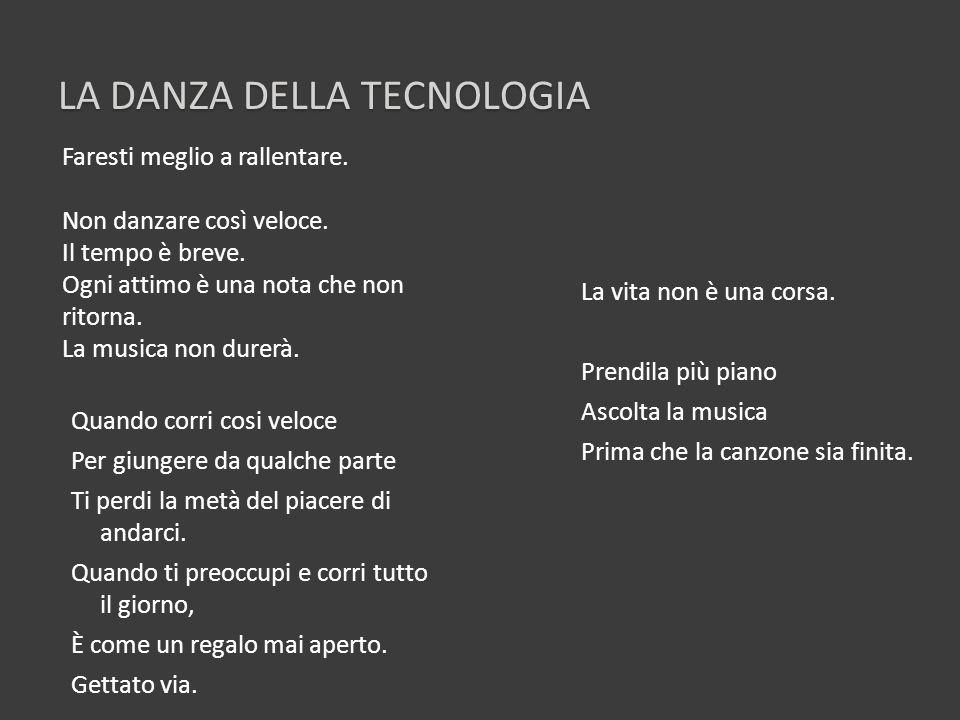 La DANZA DELLA tecnologia