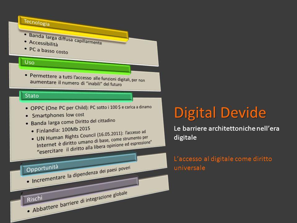 Digital Devide Le barriere architettoniche nell'era digitale