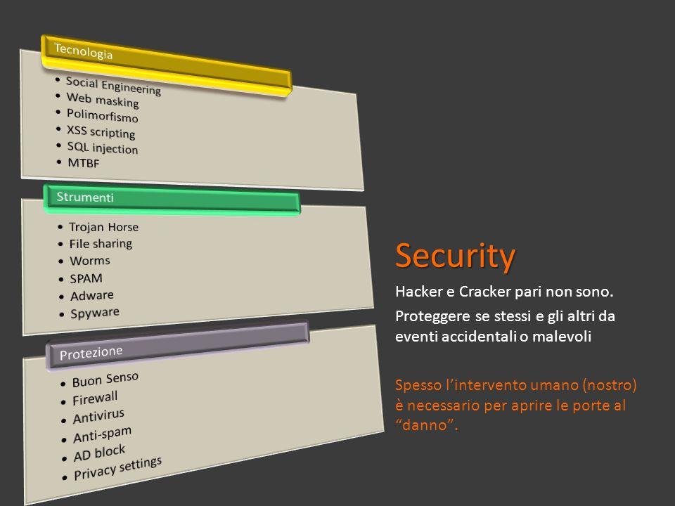 Security Hacker e Cracker pari non sono.