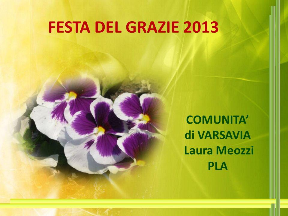 FESTA DEL GRAZIE 2013 COMUNITA' di VARSAVIA Laura Meozzi PLA