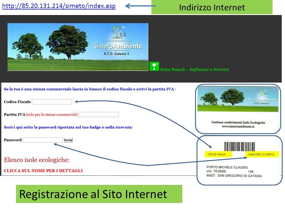 Registrazione al Sito Internet