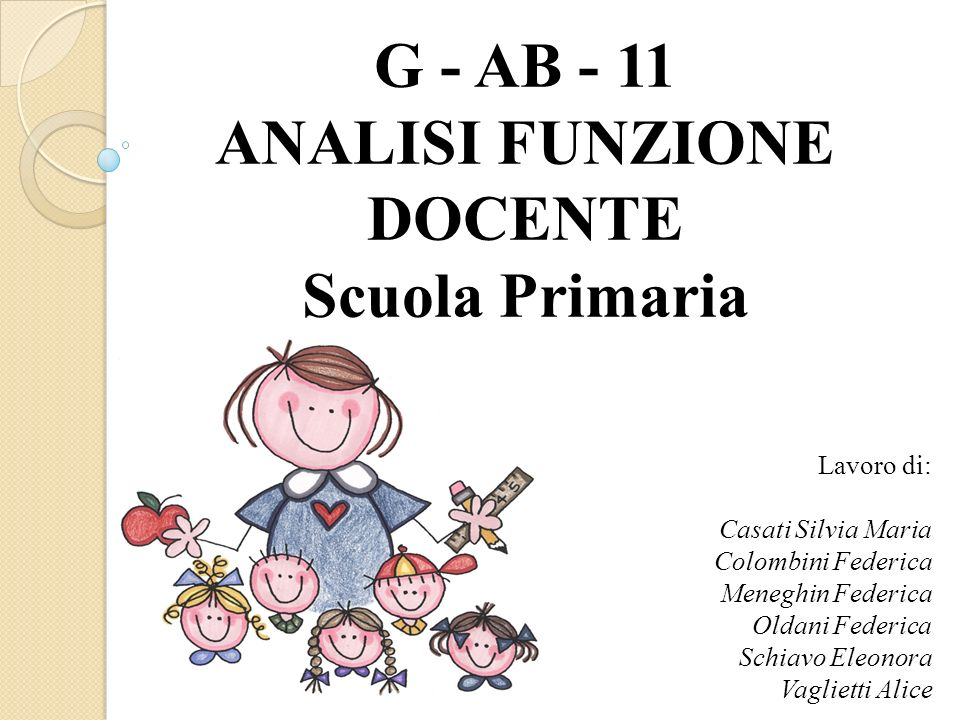 G - AB - 11 ANALISI FUNZIONE DOCENTE
