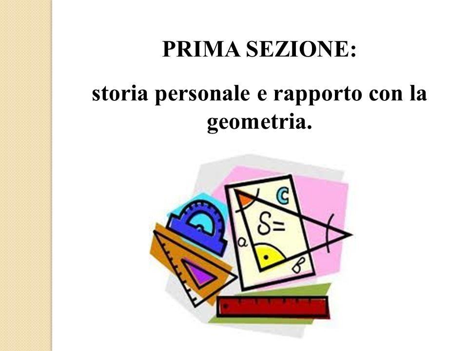 storia personale e rapporto con la geometria.