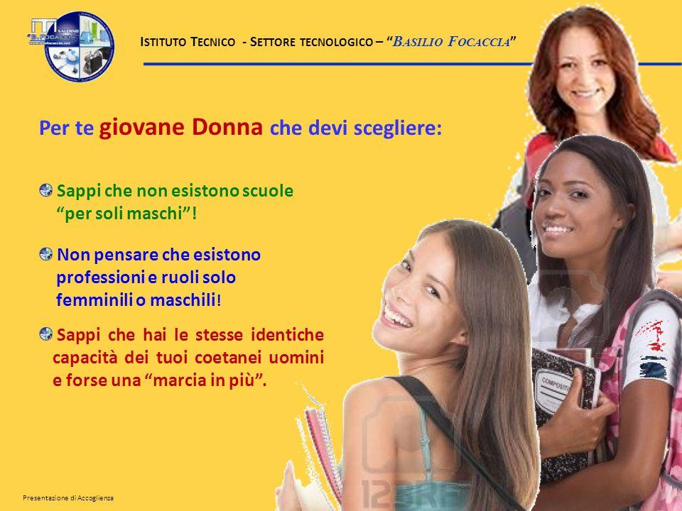 Per te giovane Donna che devi scegliere: