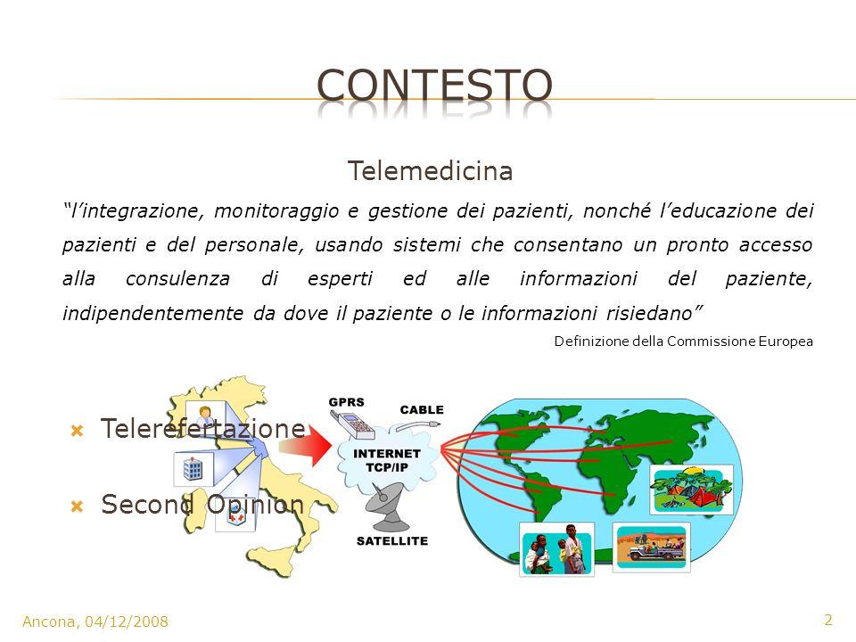 CONTESTO Telemedicina Telerefertazione Second Opinion