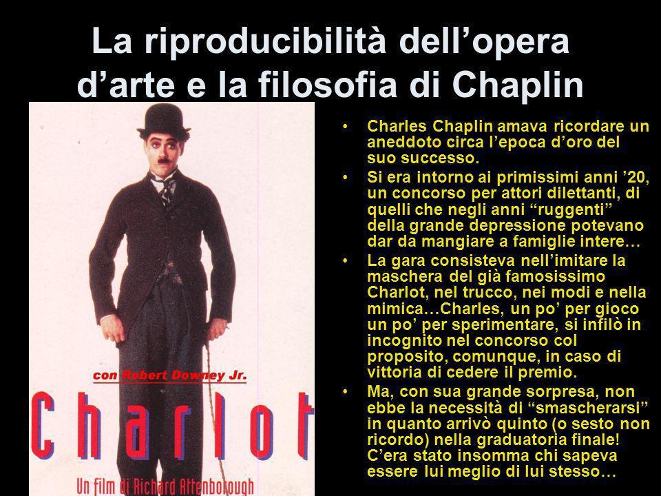 La riproducibilità dell'opera d'arte e la filosofia di Chaplin