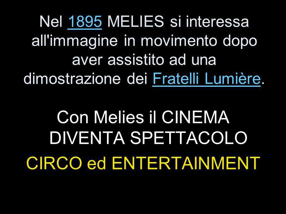 Con Melies il CINEMA DIVENTA SPETTACOLO CIRCO ed ENTERTAINMENT