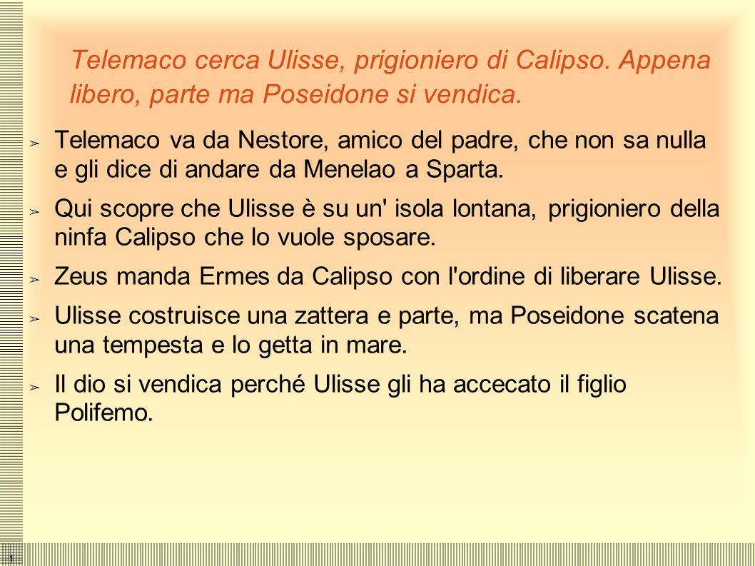 Telemaco cerca Ulisse, prigioniero di Calipso