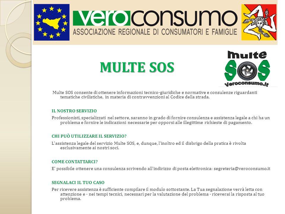 MULTE SOS IL NOSTRO SERVIZIO